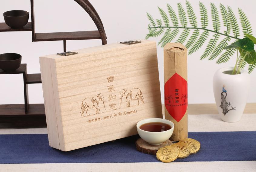 吉象如意陈年普洱茶,让您品味大树熟茶的味道