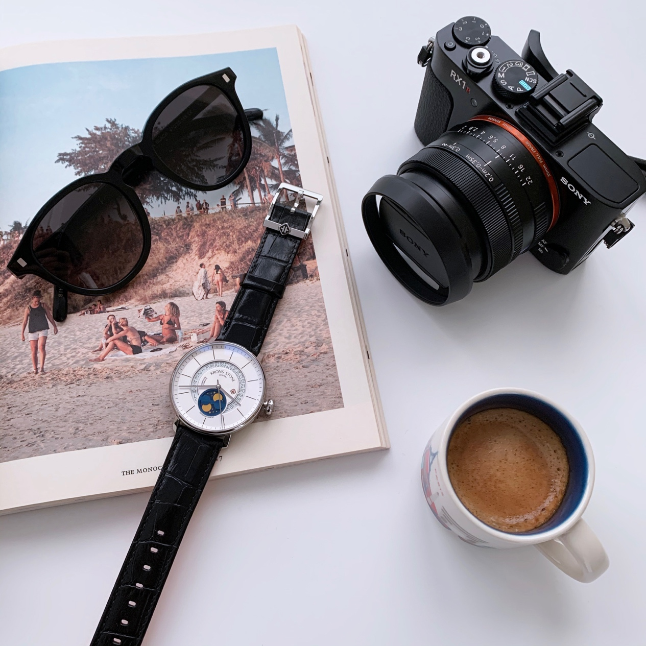 都市新锐福利款手表来袭 纪念日给他KRONS STONE 卝石 月相机械表