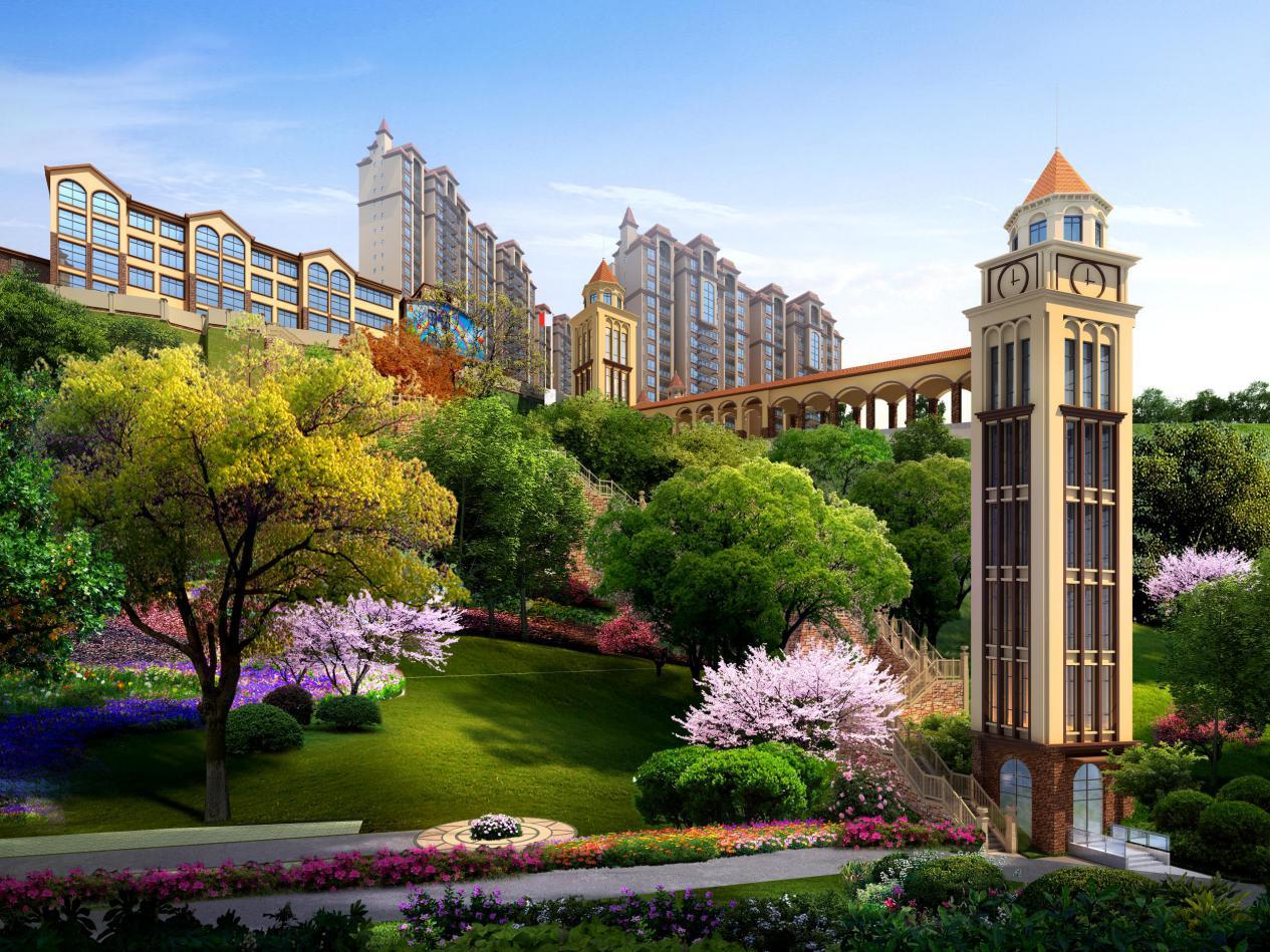 陇城首个社区花园云景观光电梯即将惊艳亮相