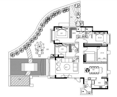 靓家居设计师郑俊嘉的200㎡四房美到逆天绝了
