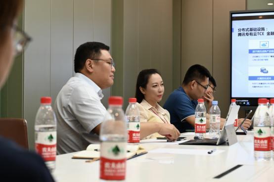 合作共赢,腾讯金融云团队拜访赞同科技